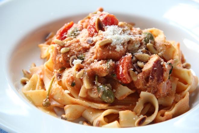 JM pasta kip tomaten