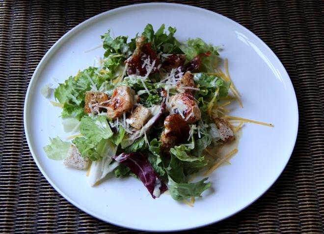 caeser salad met Natura dressing